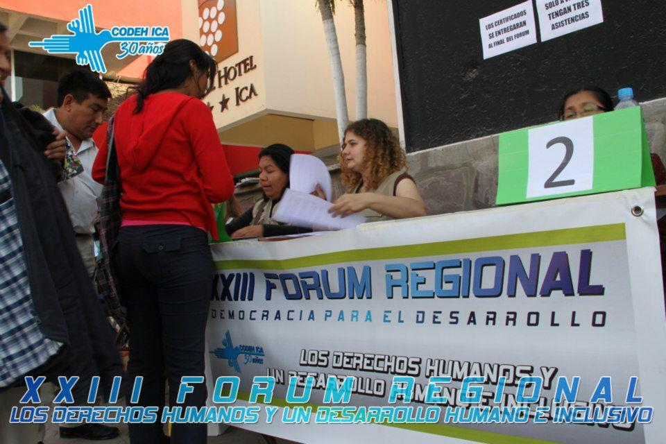 XXIII Fórum Regional Democracia para el Desarrollo: Los Derechos Humanos y un Desarrollo Humano e Inclusivo