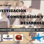 Mesa de trabajo Investigación, Comunicación y Desarrollo