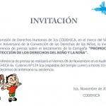 conferencia Promoción y protección de los derechos del niño y la niña. Ica