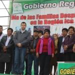 Presidente Regional de Ica y familias desplazadas.
