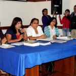 Regidoras en plena conferencia de Prensa