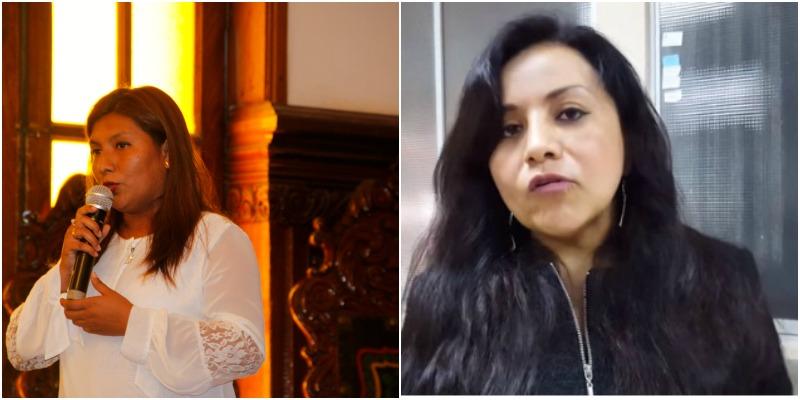 Elizabet Ordores, Regidora La Tinguiña y Patricia Torres, Regidora Pueblo Nuevo Chincha. Ambas integrantes de la Red de Mujeres Autoridades - REMUA ICA