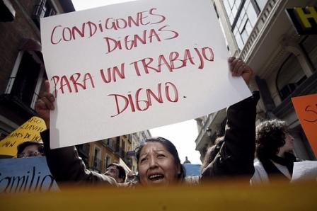 Video: Trabajadoras del Hogar paran el 08 de marzo