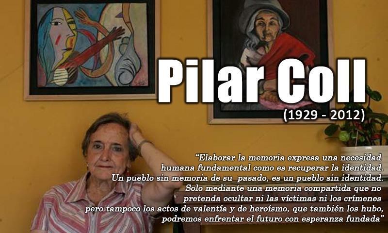 Pilar Coll, defensora de las víctimas de la violencia