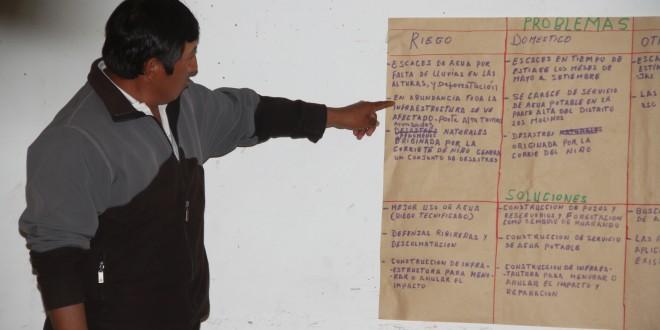 Comunidades indígenas y agricultores aportando en  la agenda del agua