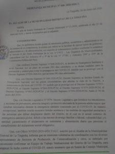Ordenanza Municipal 008-2020
